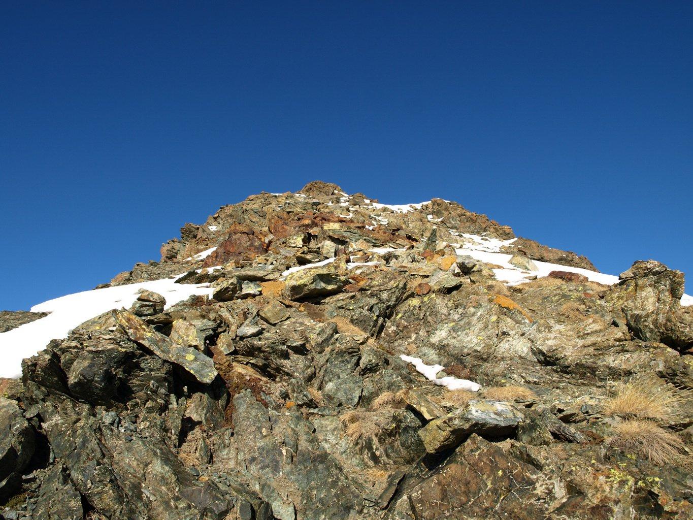 Rocce verso la cima del Bec Costazza