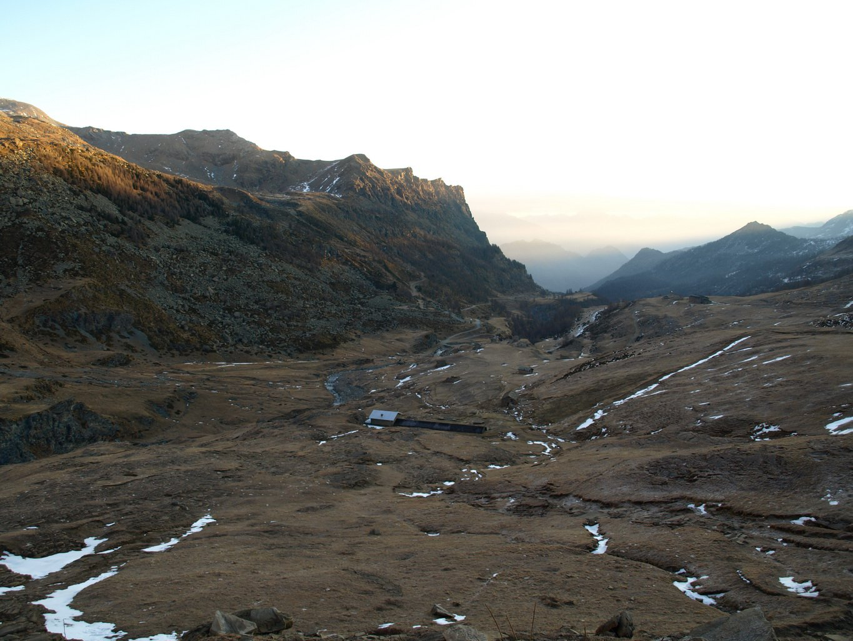 La valle di Dondena sgombra da neve