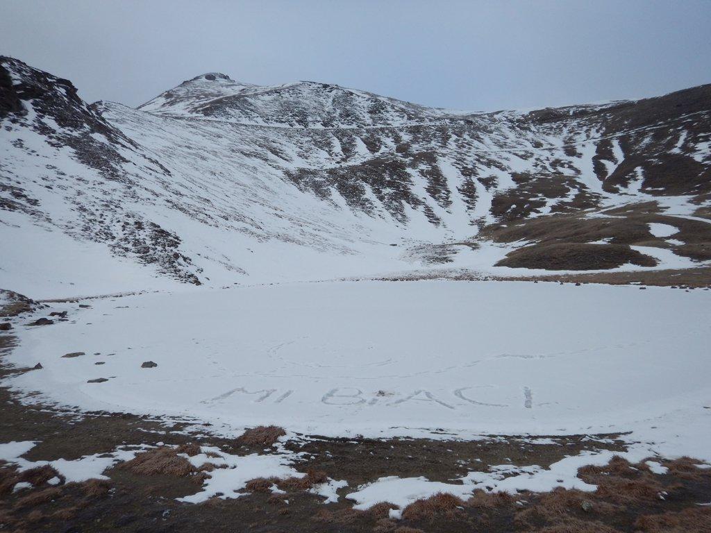 Lago di Lauson ghiacciato