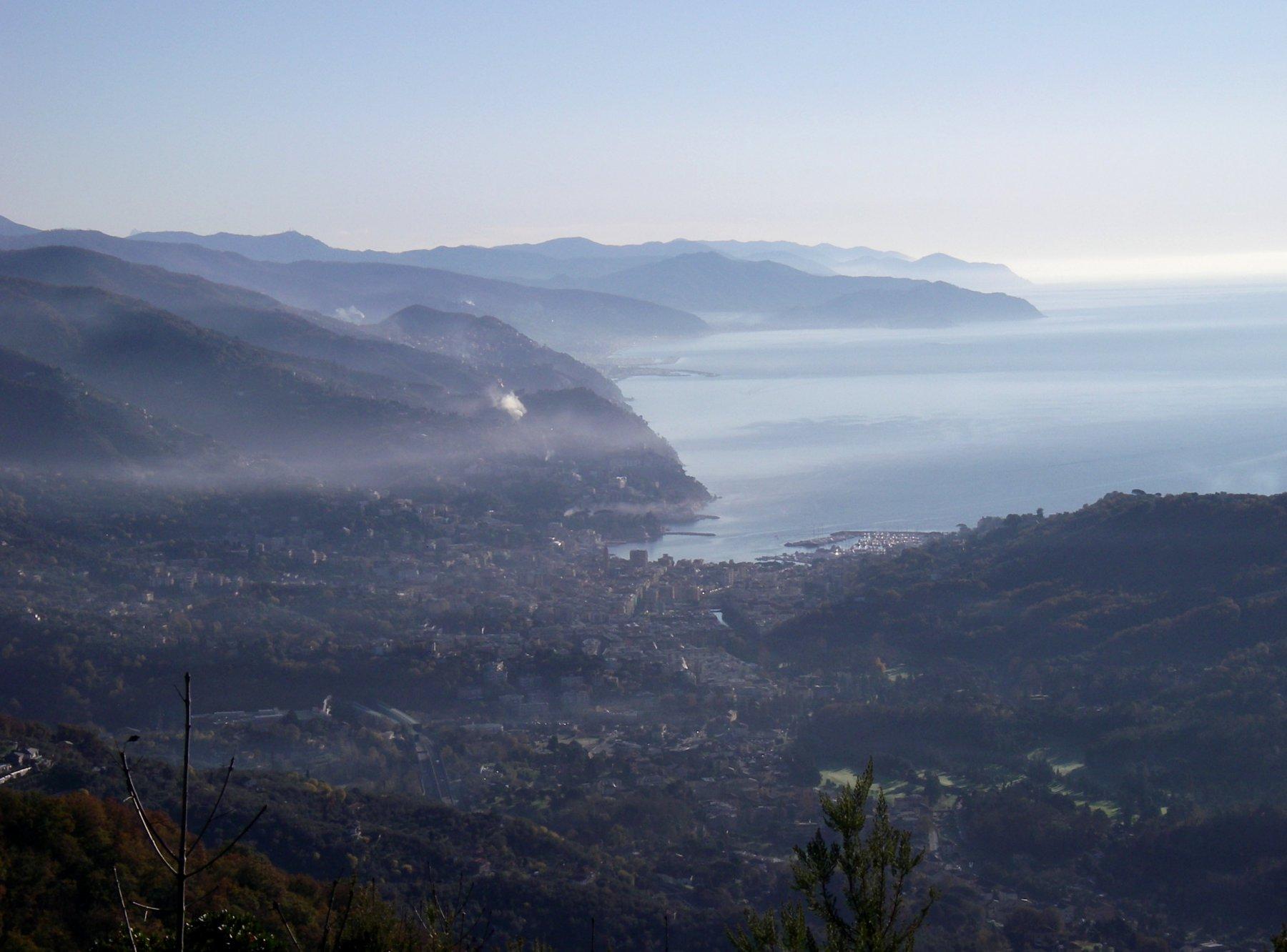 Vista su Rapallo