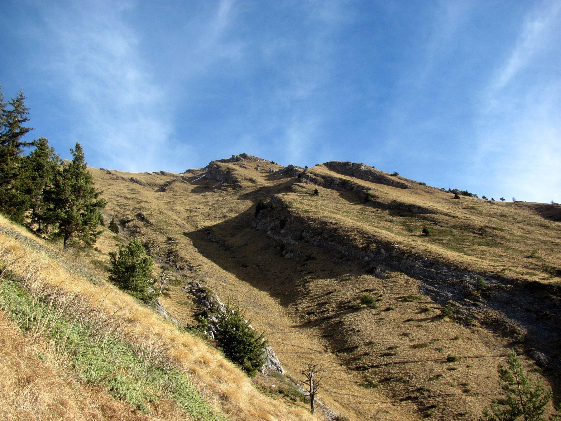 il sentiero alto, che sale (come quello basso) con numerosissime svolte