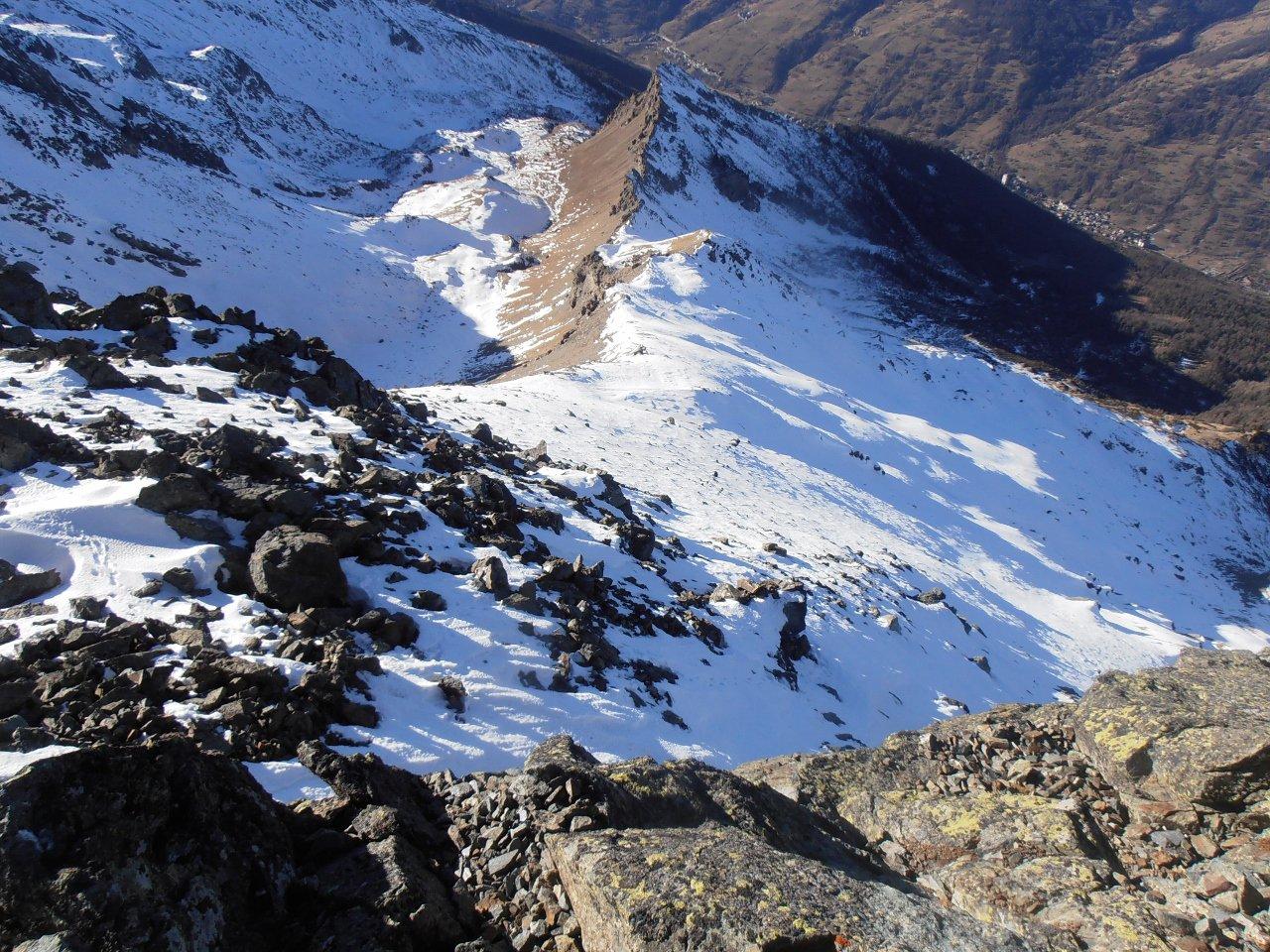 09 - la parte finale ripida vista dalla cima