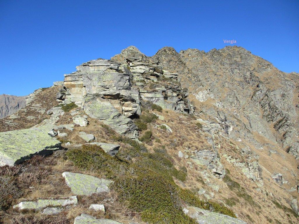 Panoramica della cresta fino alla vetta