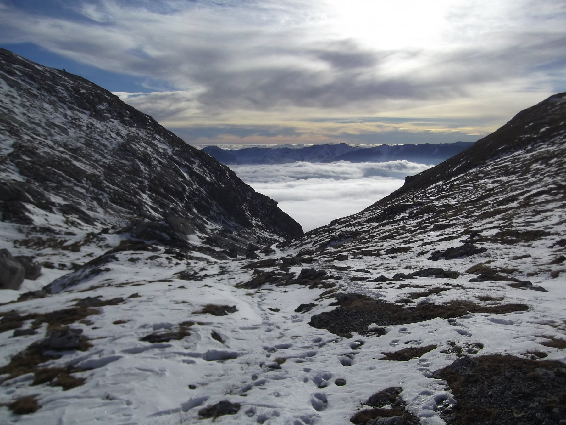 La valletta dal Bocchino dell'Aseo.