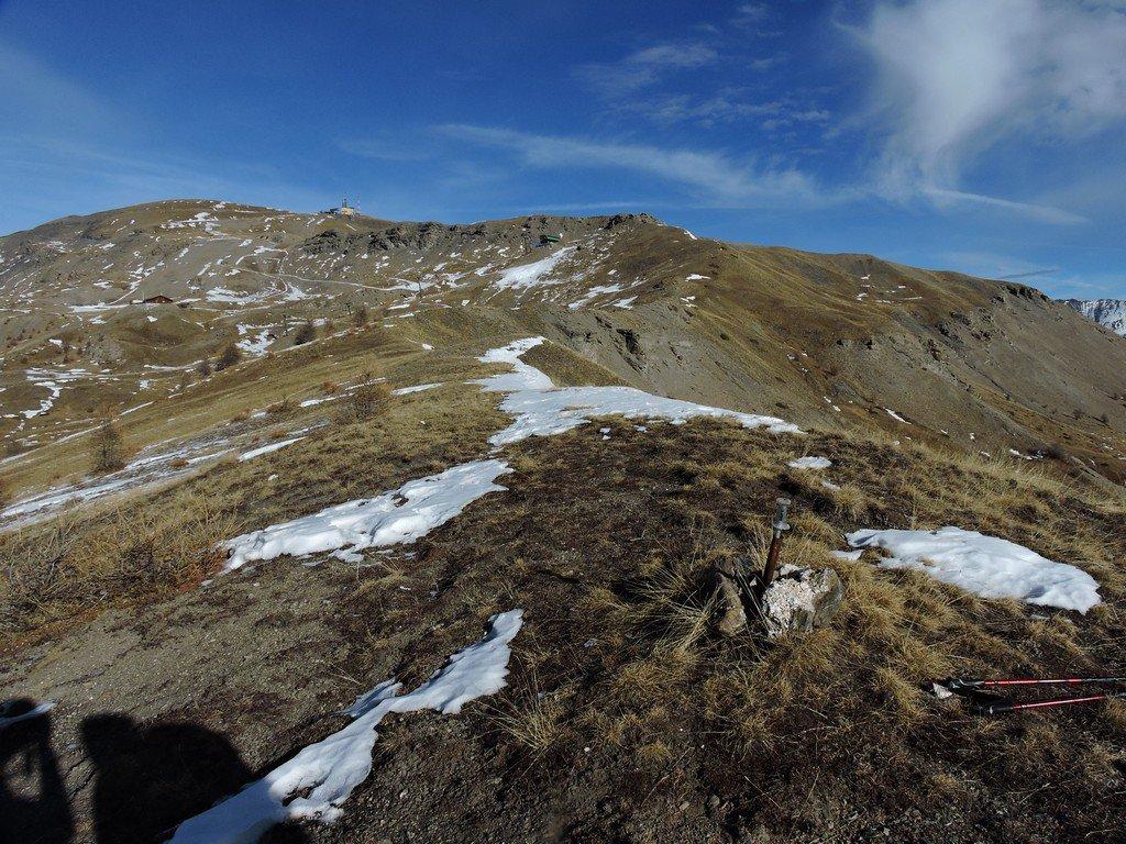 Picchetto in cima a Roccia Rotonda