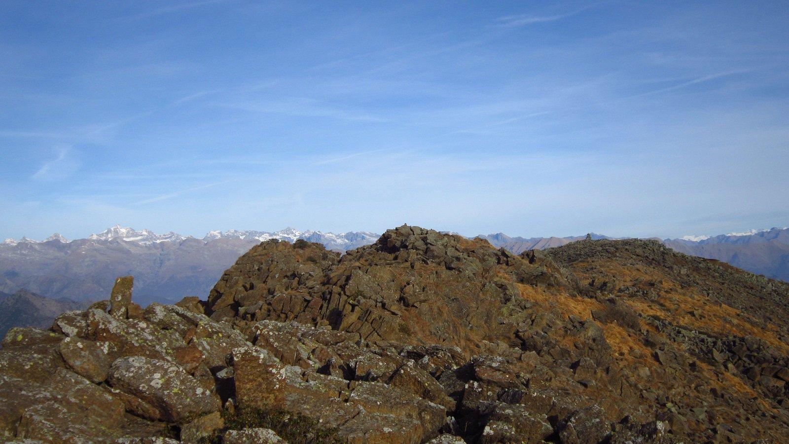 Cresta di rocce e roccette