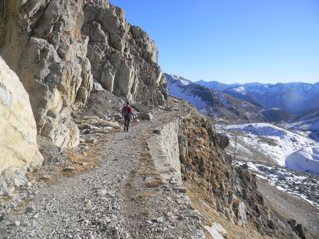 il sentiero mulattiera verso il passo Rocca Brancia