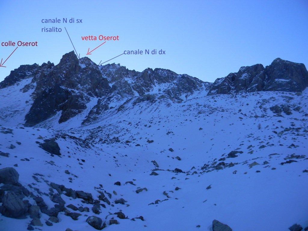 vista che si ha giunti al bivio tra i colli Oseort e Vittorio