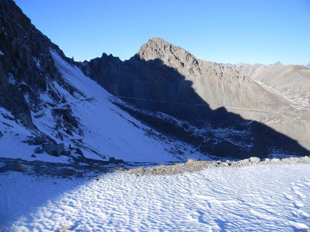 mulattiera percorsa tra il passo Rocca Brancia ed il colle gardetta