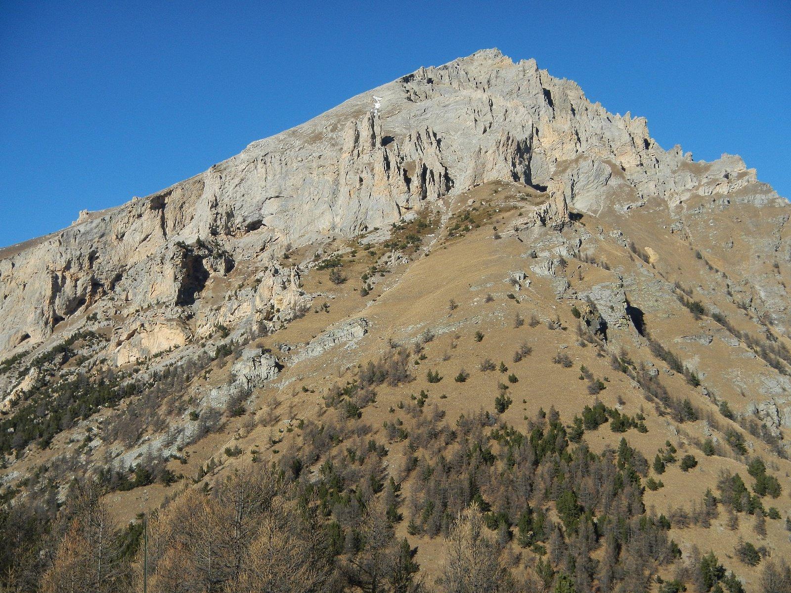 dal Monte Pramand: il versante sud  del Monte Seguret