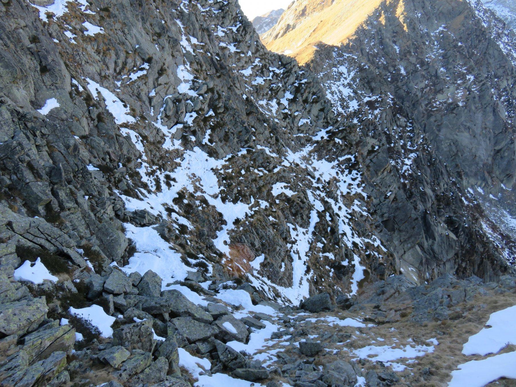 Primo traverso della parete nord