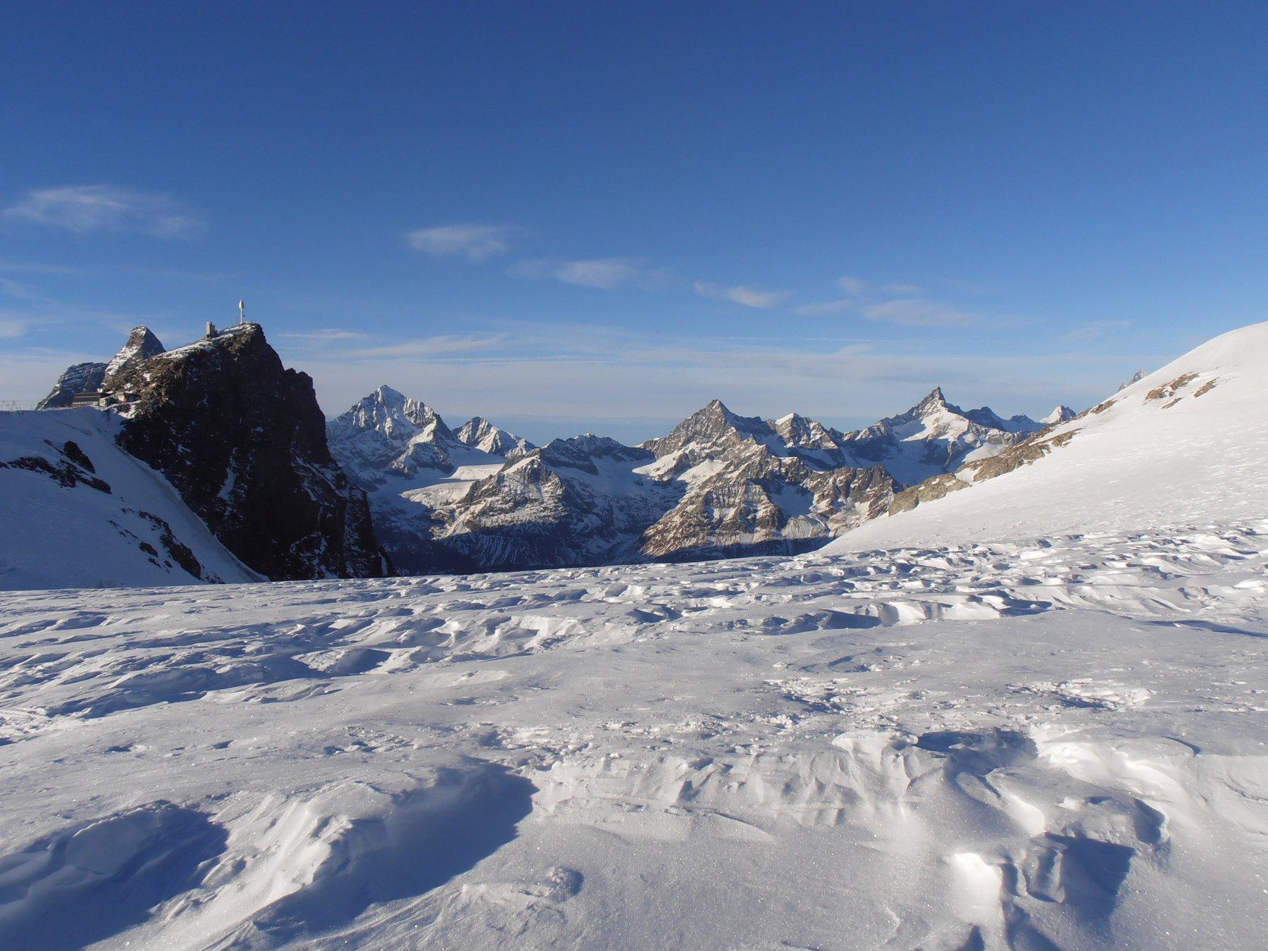 Grandi sastrugi gelati sul Plateau del Breitorn
