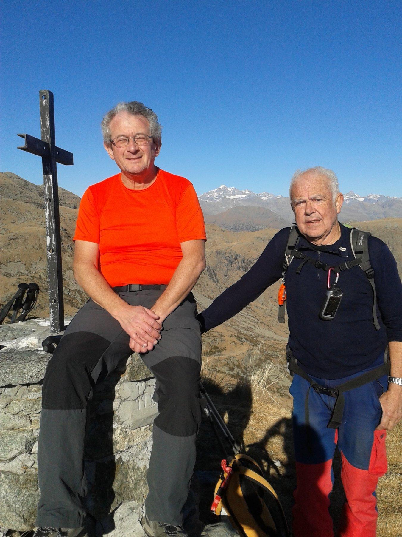 in vetta al Montù con Franco