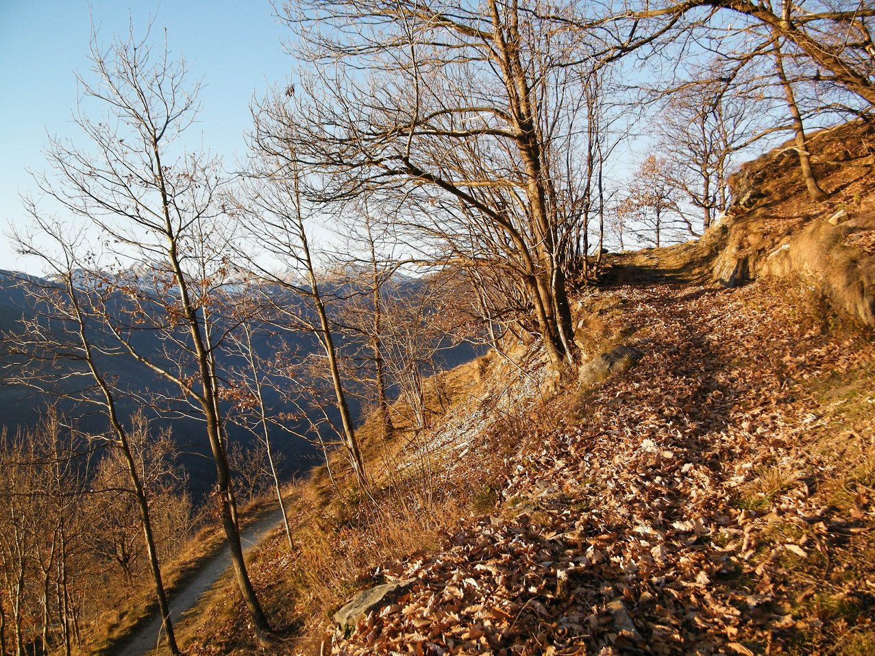 L'inizio del sentiero a Pertusel