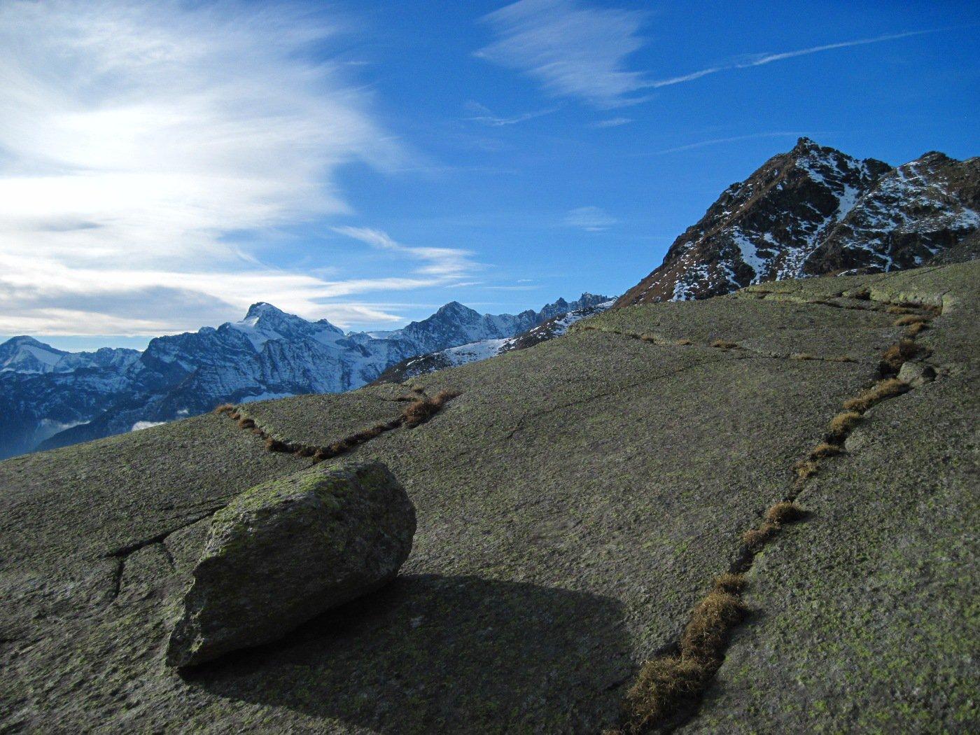 Sulle rocce montonate