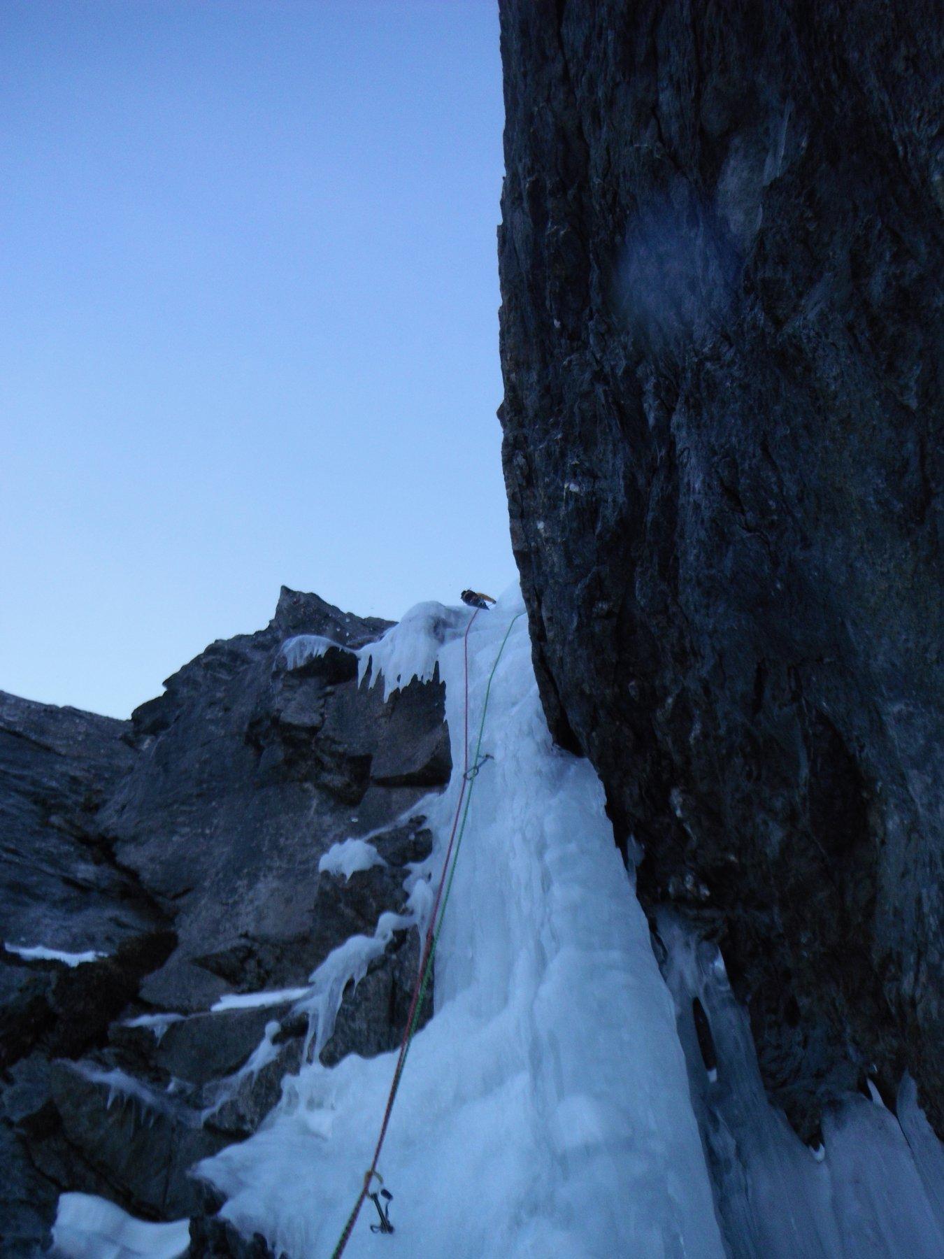 sul tratto in ghiaccio duro