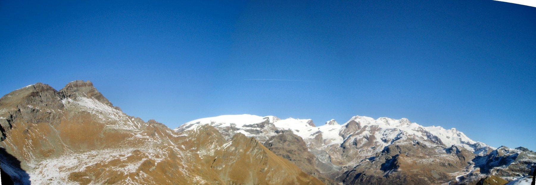 Dai Tournalin al tutto il Gruppo del Monte Rosa.
