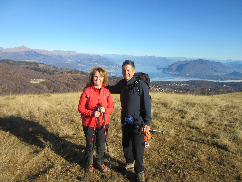Sul Monte Falò con vista sul Lago Maggiore
