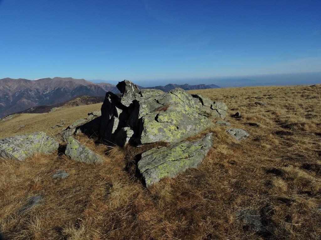 Le rocce sulla cima