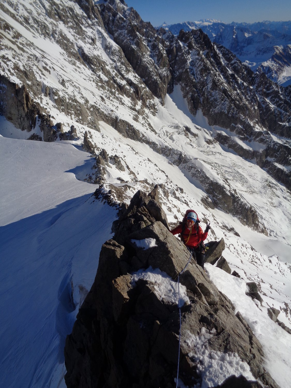 primo tratto di cresta sopra il col de Rochefort
