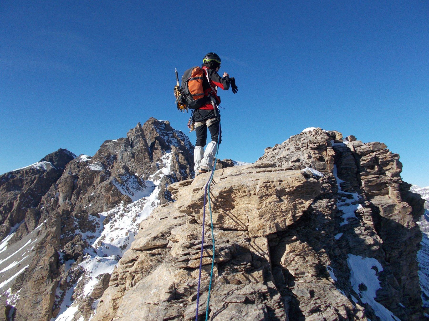 dalla cresta alla quota 3253m..verso la Roche Michel
