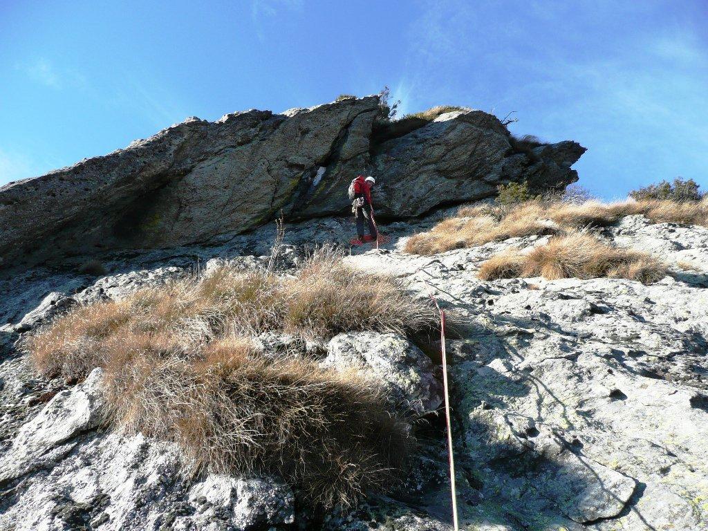 S4 e boulder (azzerabile) di inizio L5 poi facile fino in cima