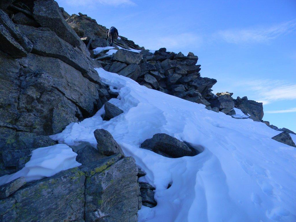 ultimo tratto sotto la cima, versante nord, lato Ceresole