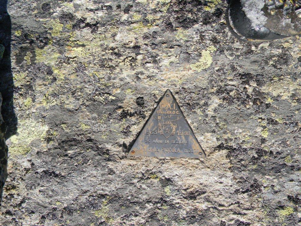 il diffusissimo nelle valli di Lanzo..triangolo di vetta