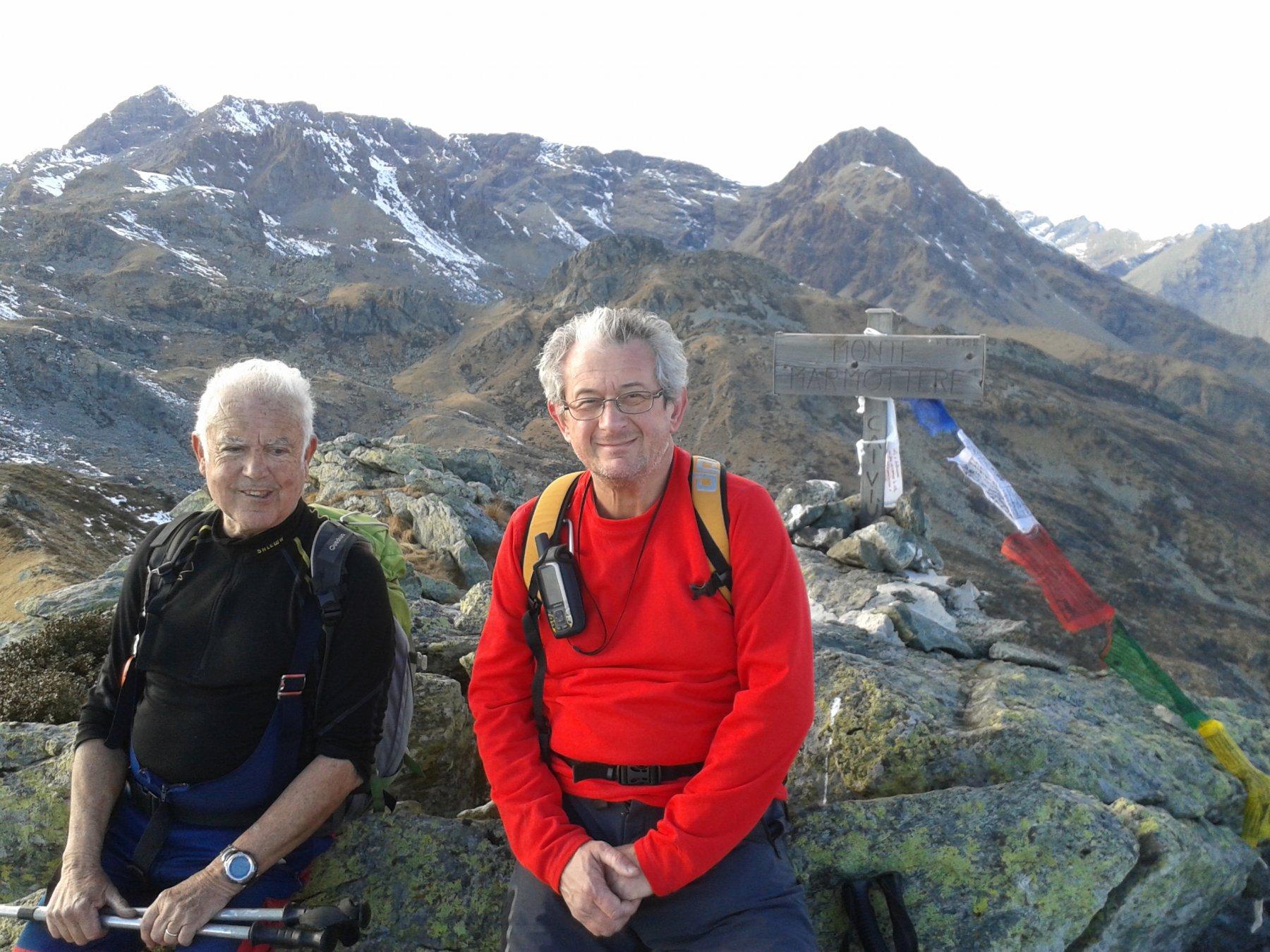 in cima al monte Marmottere