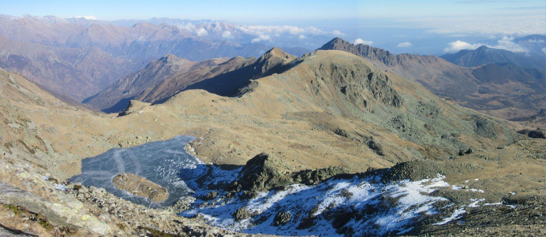 Ciarm del Prete e Monte Ciriunda dall'Alpe Bianca, anello 2015-12-30