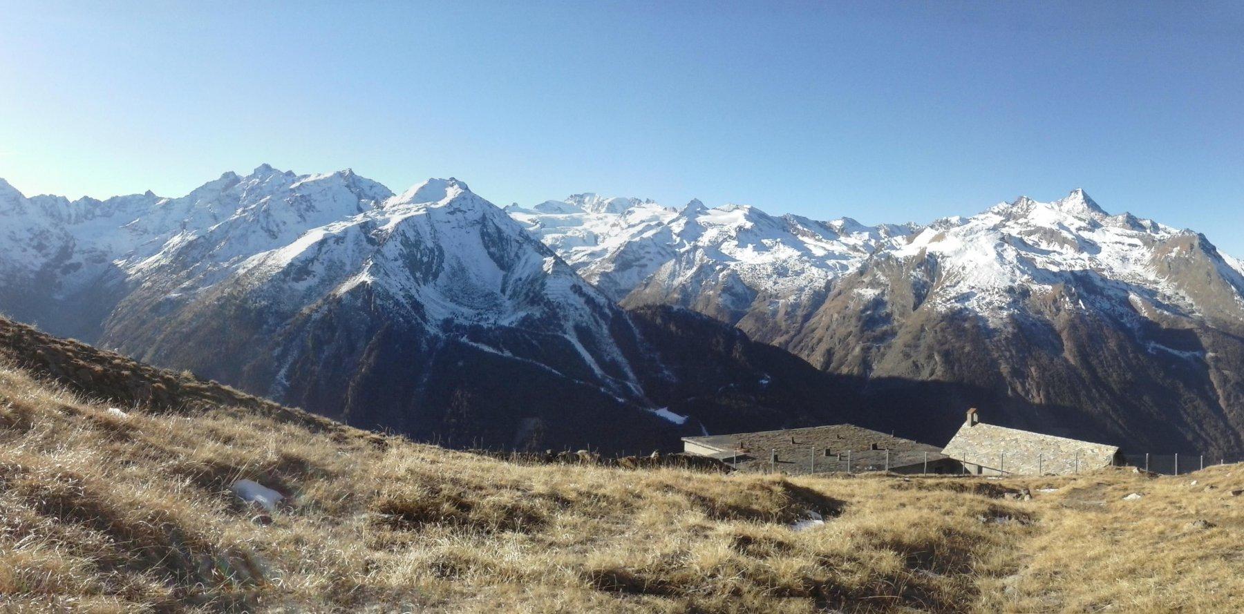 panorama dalla miniera Colonna sulla catena del Grampa..