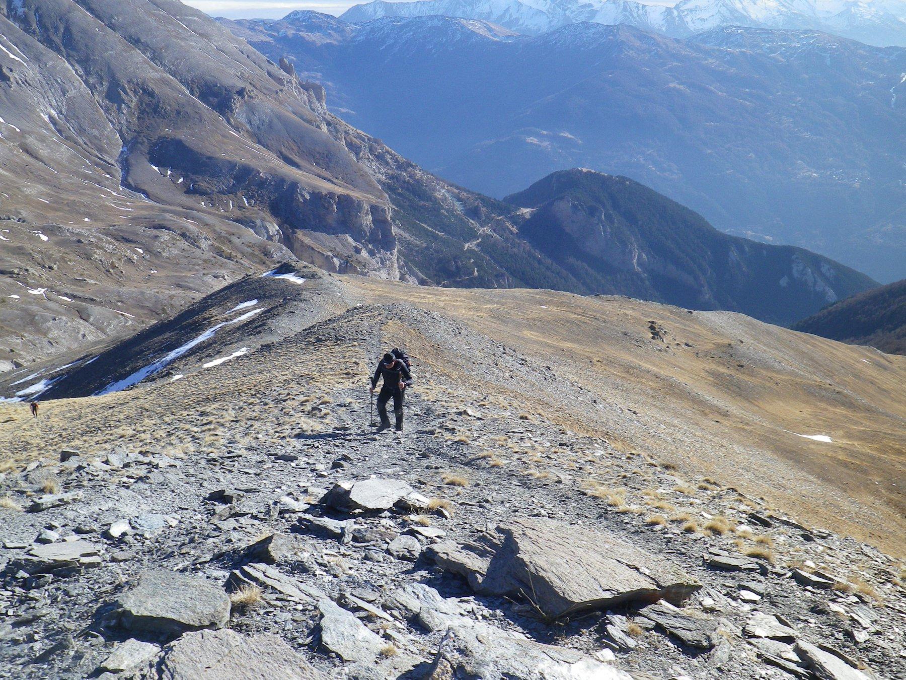 Jafferau (Monte) e Monte Vin Vert da Oulx, traversata a Bardonecchia per i Forti Pramand e Foens 2015-12-30