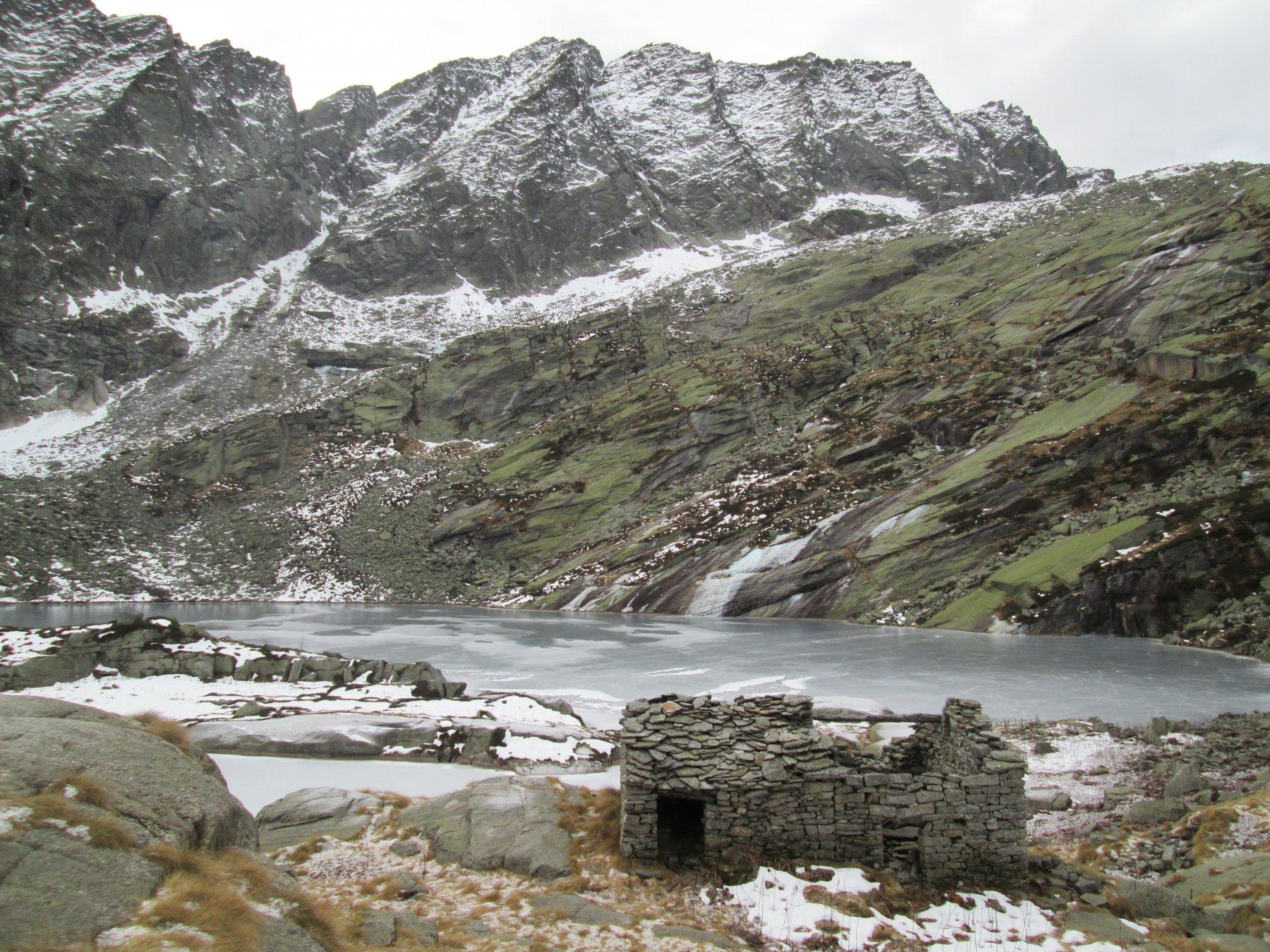 lago lasin ghiacciato