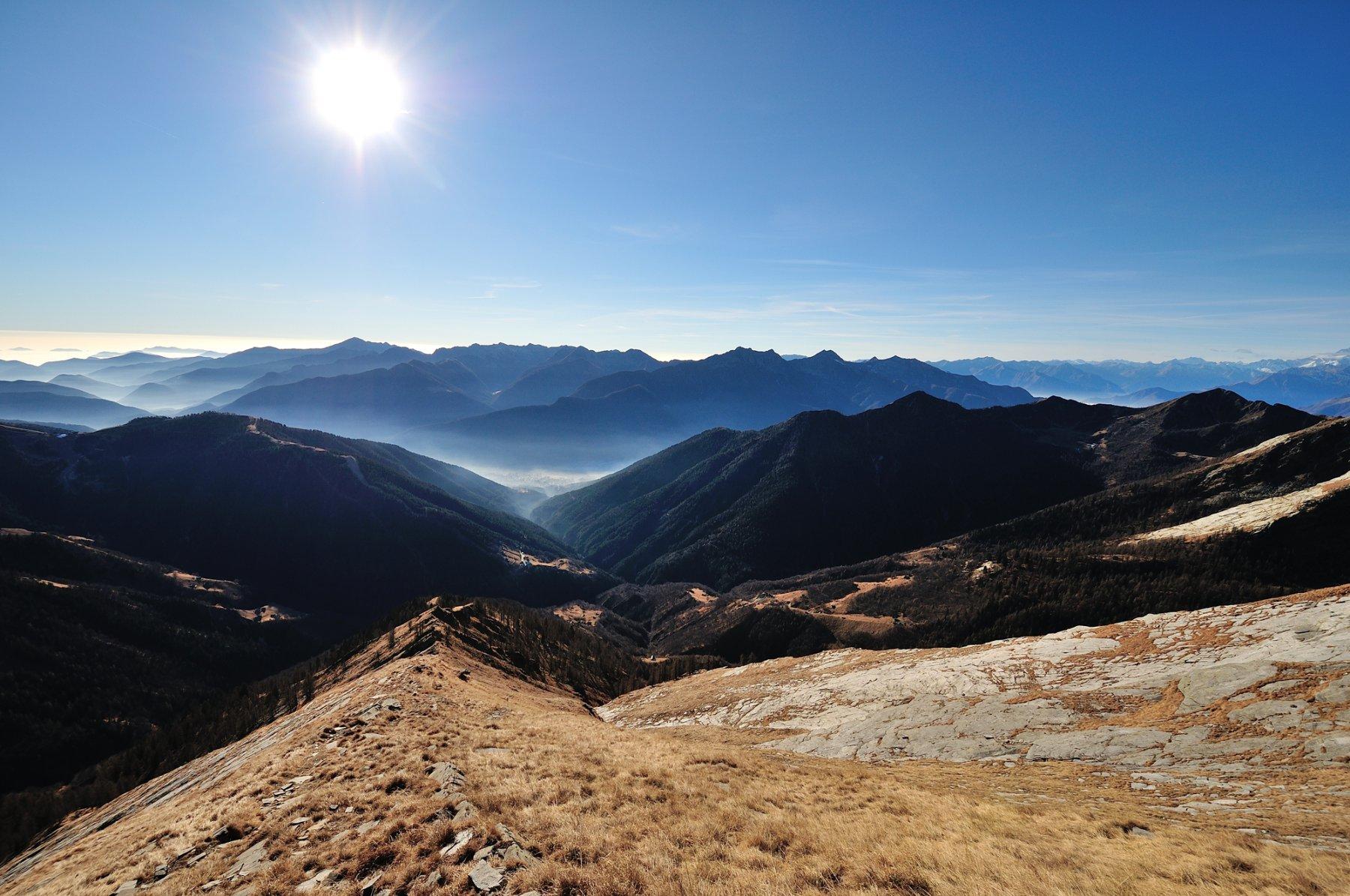 Valle Vigezzo vista dalla cresta Sud-Est