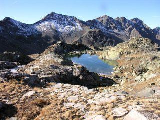 il Lago Blanchet superiore visto dal Colle Biancetta (5-11-2006)