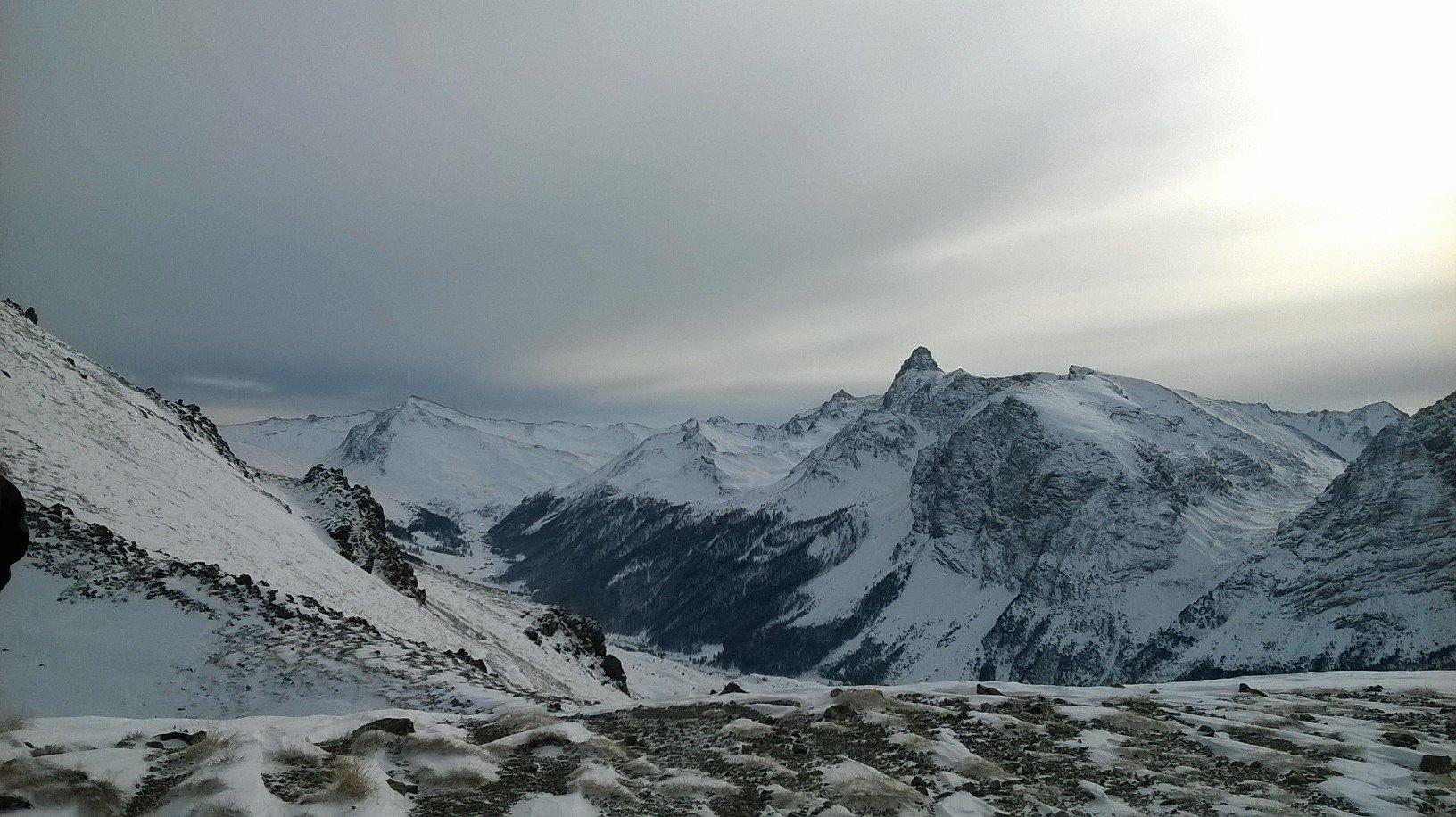 Panoramica sul Pic de Rochebrune e la Turge de la Suffie
