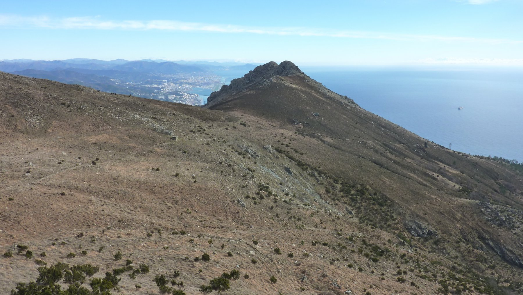Tardia Ponente (Monte) da Crevari per il versante Sud 2016-01-03