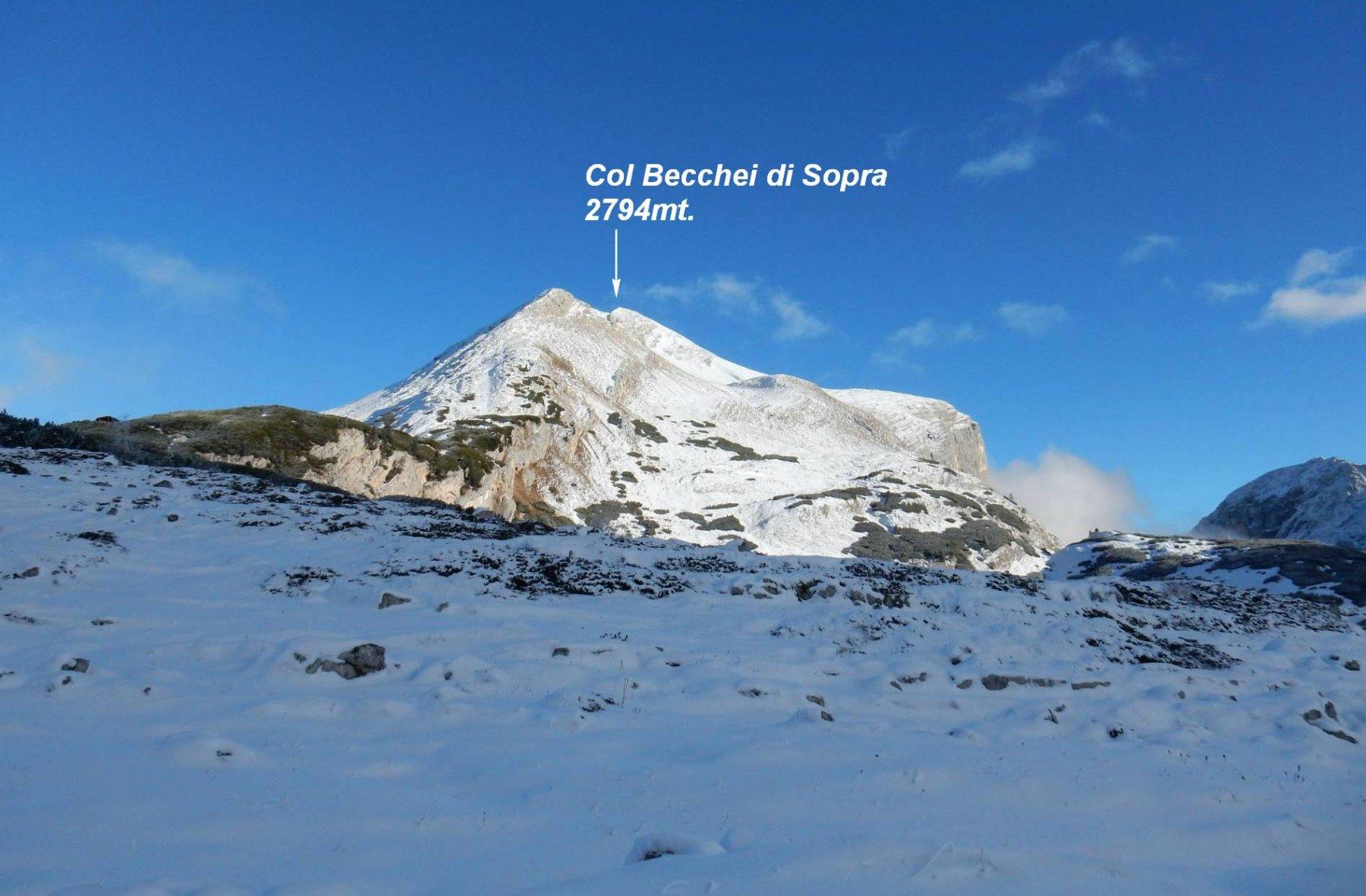 Panorama sul Col Bechei di Sopra dal P.so Limo 2172mt.