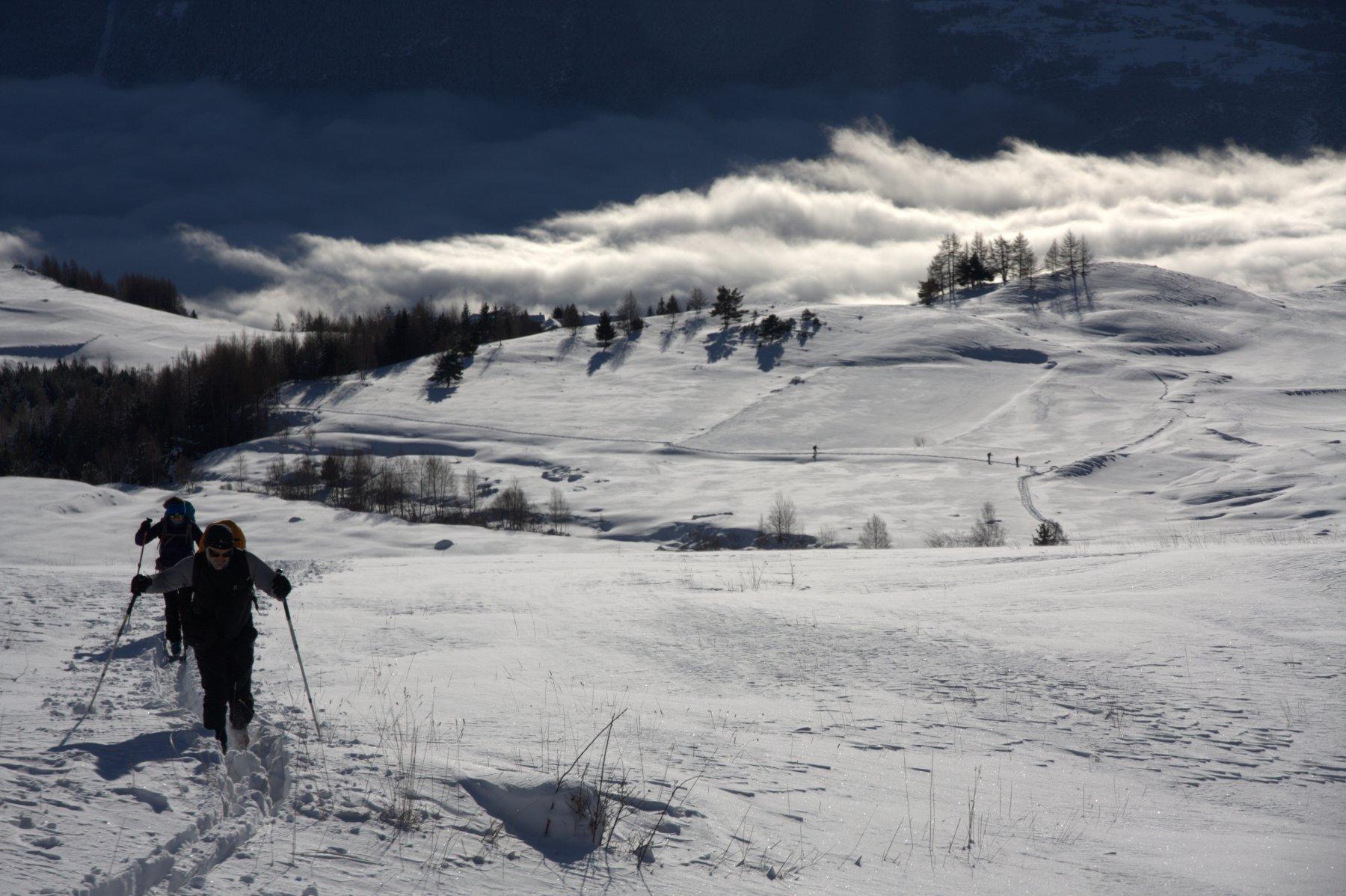 Salendo all'Alpe Grand Arpilles