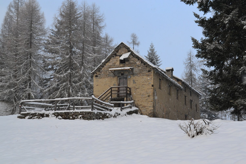 arrivo a Villa Samonini sotto la nevicata