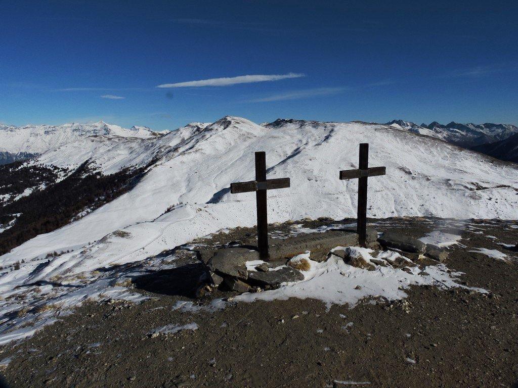 Le croci di Costa e Ploto partigiani caduti per la libertà.