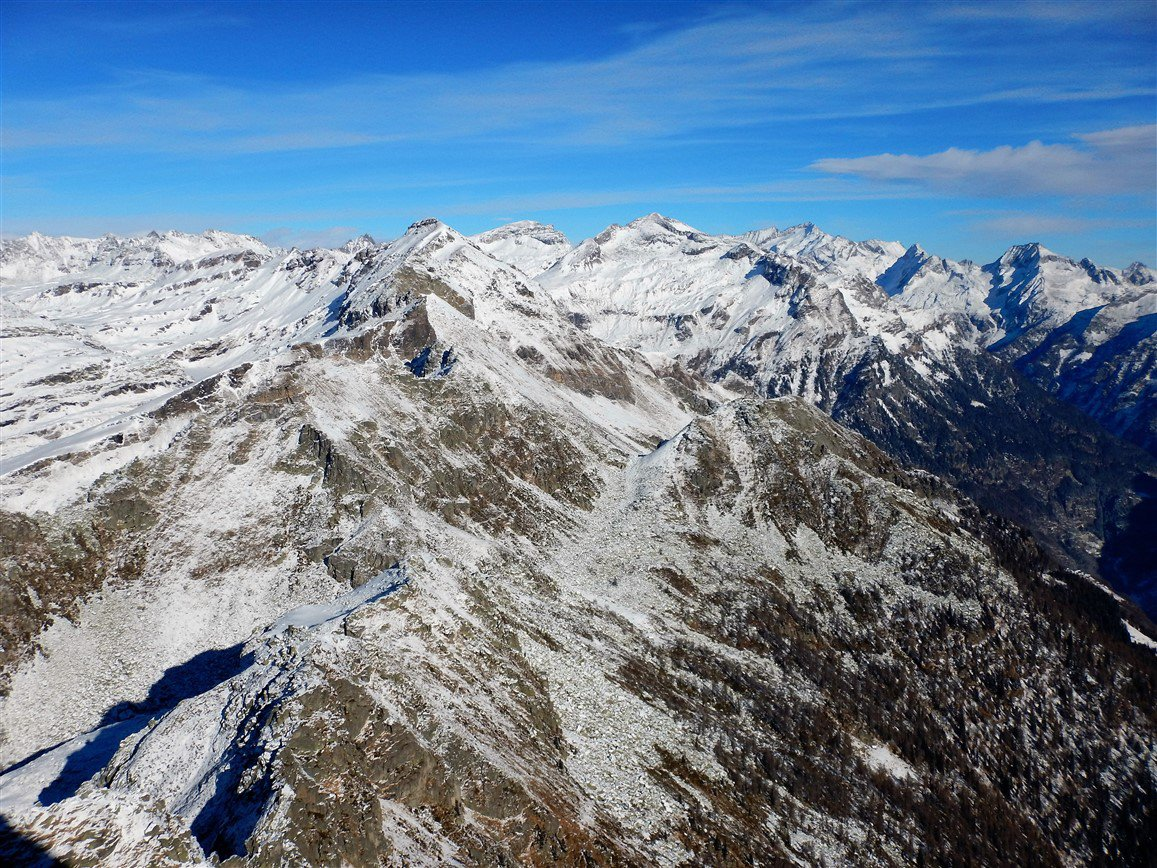 Pizzo Pojala, Punta Clogstafel e Monte Giove