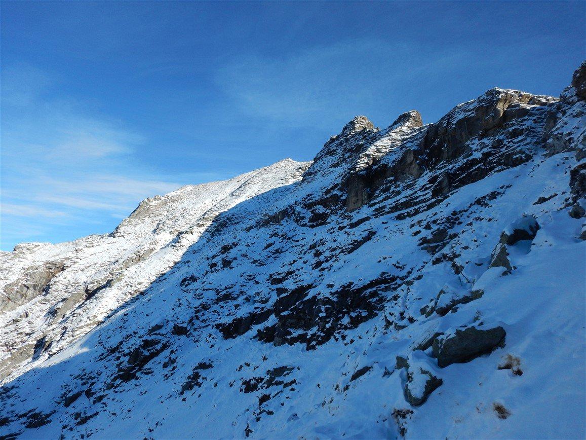 Il traverso NW per il Monte Gorio