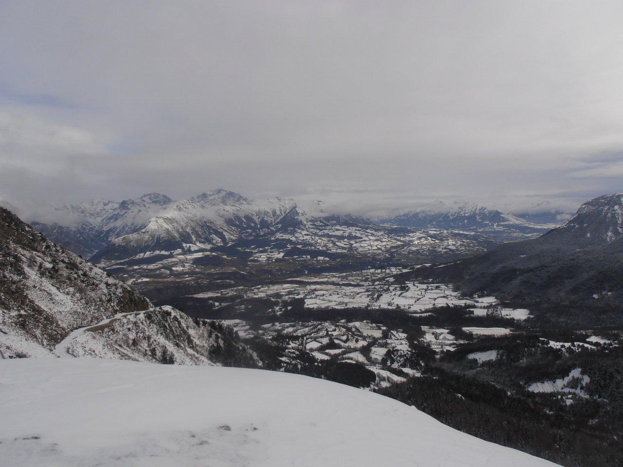 03 - dal col du Noyer gran panorama a picco sullo Champsaur