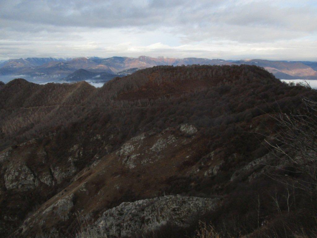 la cresta dei Pizzoni vista dalla Crocetta