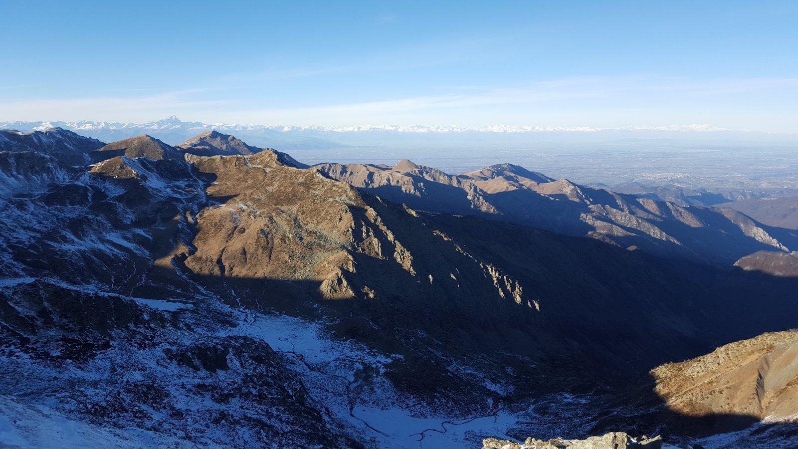 Panorama verso l'arco alpino