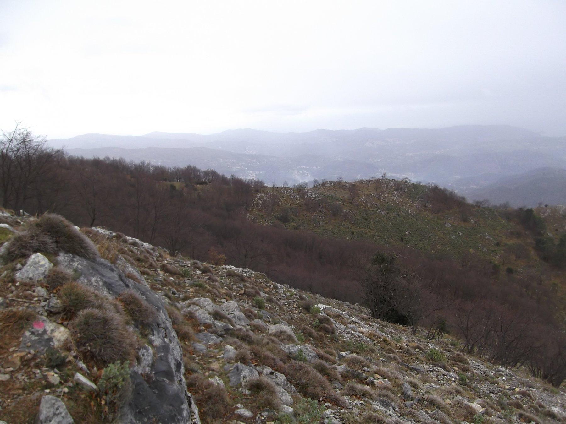 Prati Peglia e sentiero di collegamento con il Ravinet.