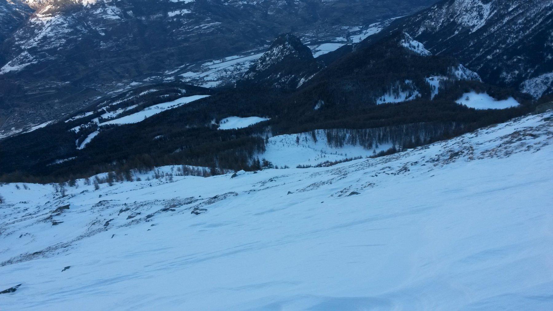 discesa diretta all'Alpe Corquet