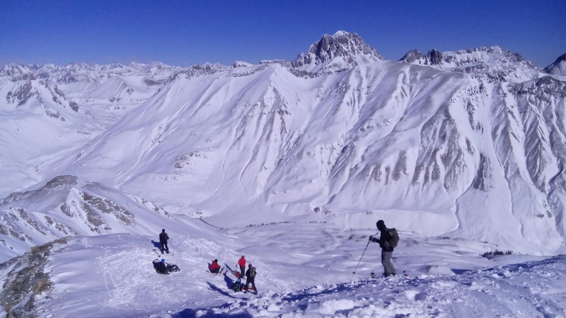 03 - inizio discesa dalla cima, Oronaye sullo sfondo
