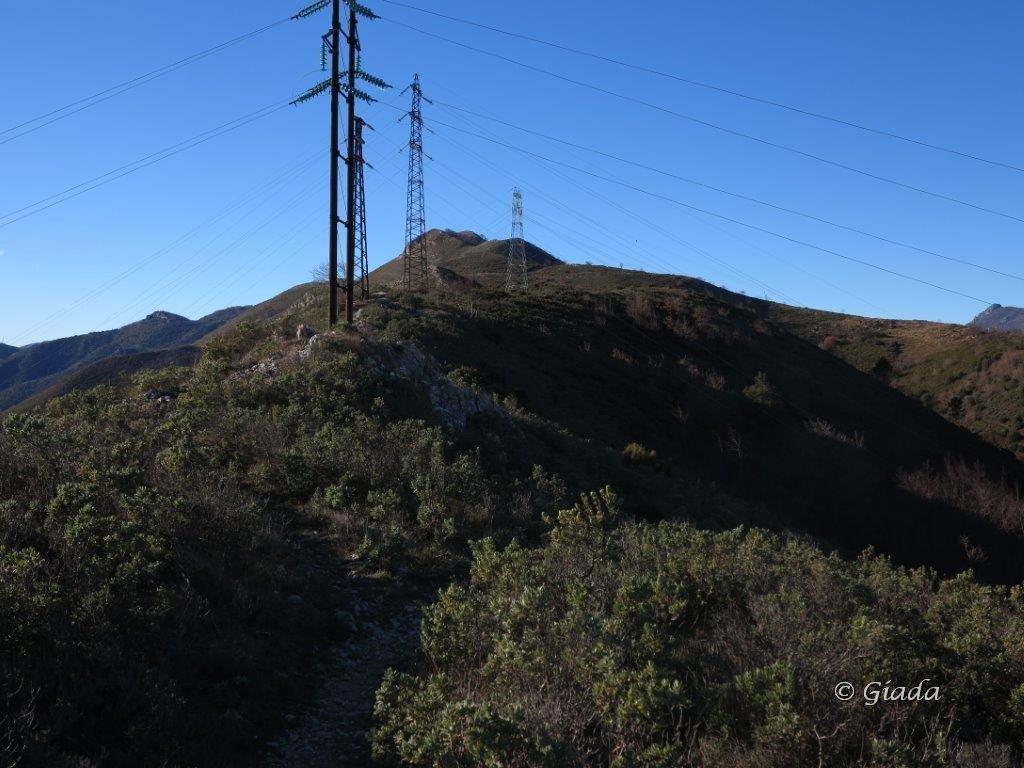 Ripetitori verso il Monte Acuto